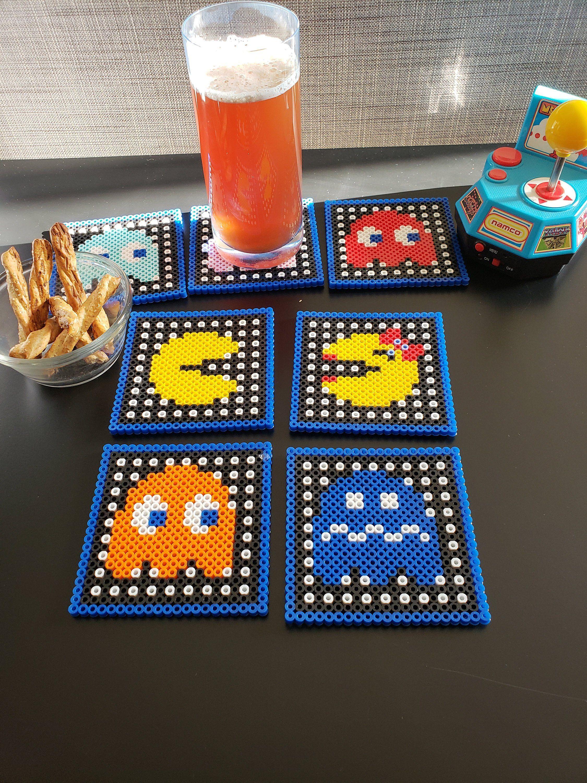 Pac-Man Video Game 4x4 Ceramic Coaster Handmade