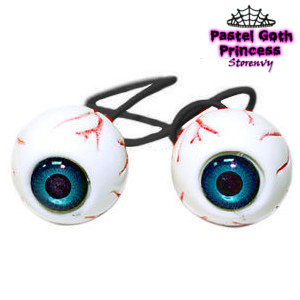 Eyeball Hair Tie from Pastel Goth Princess