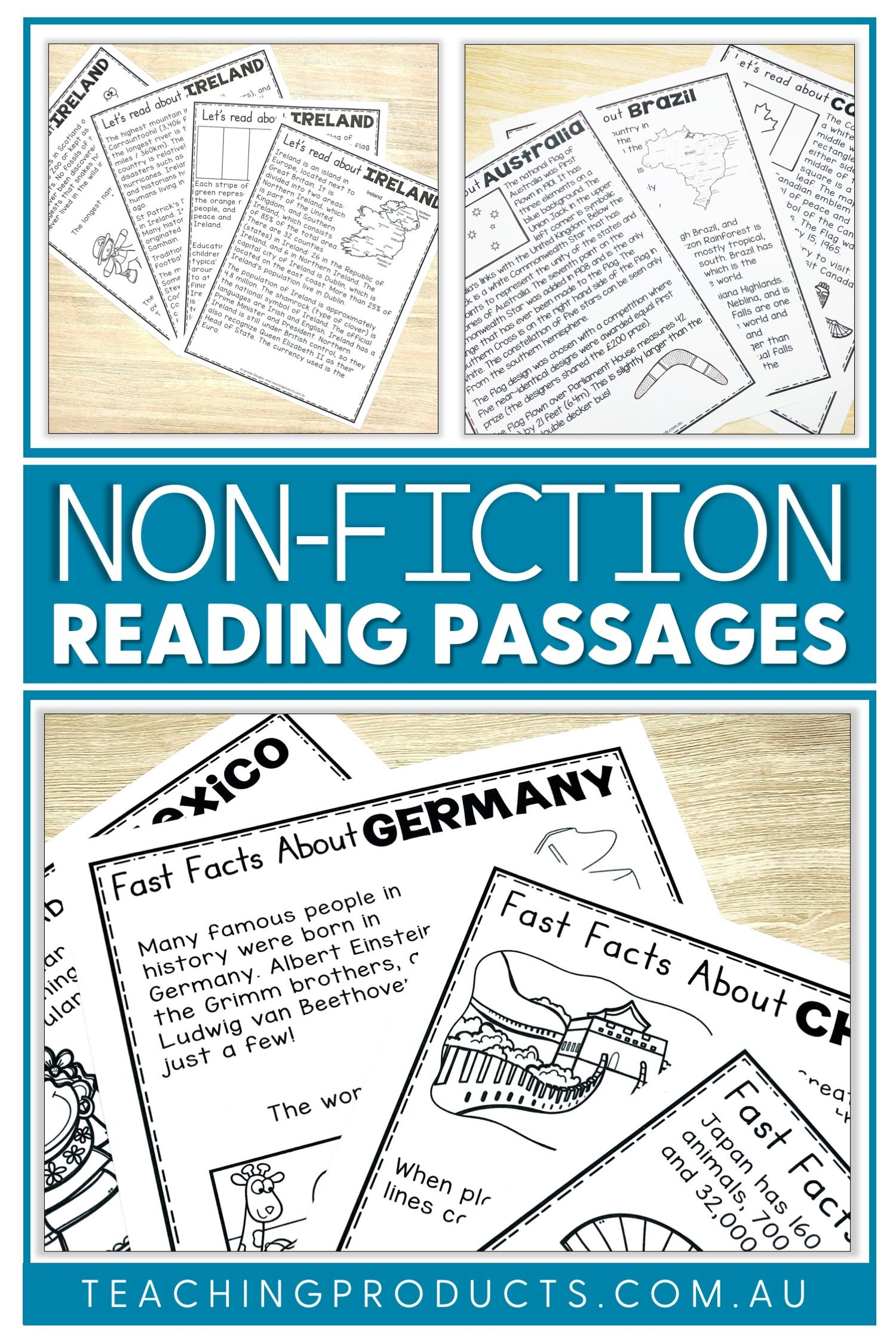 Non Fiction Reading Passages For Social Studies Reading Passages Fiction Reading Passages Teacher Material Nonfiction reading comprehension social