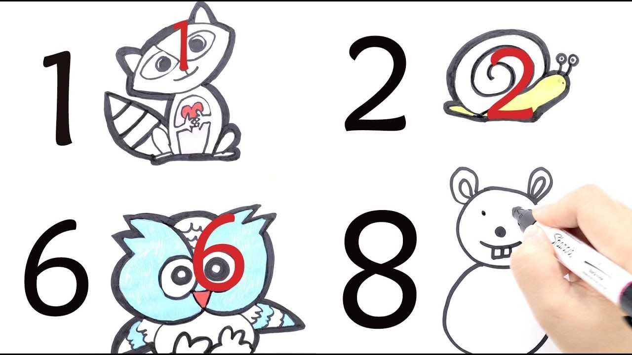 How To Draw Anything From Numbers Easy 10 Drawing From Numbers 1