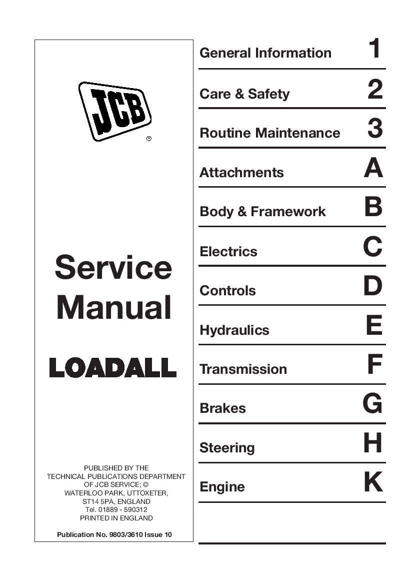 Jcb 520 55 526 55 526s Loadall Workshop Repair Service Manual Pdf Download Repair Manuals Manual Repair
