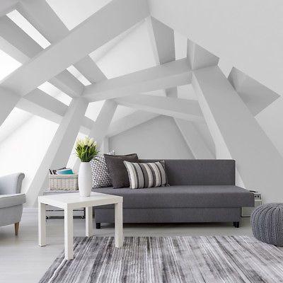 VLIES FOTOTAPETE 3D Optik TAPETE Grau Abstrakt WANDBILDER XXL Wohnzimmer 4  Farb