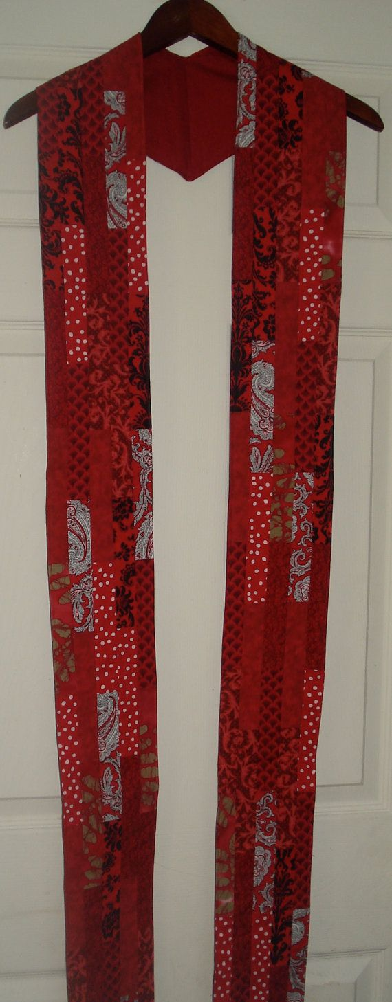 Red/Ordination/Pentecost Clergy Stole