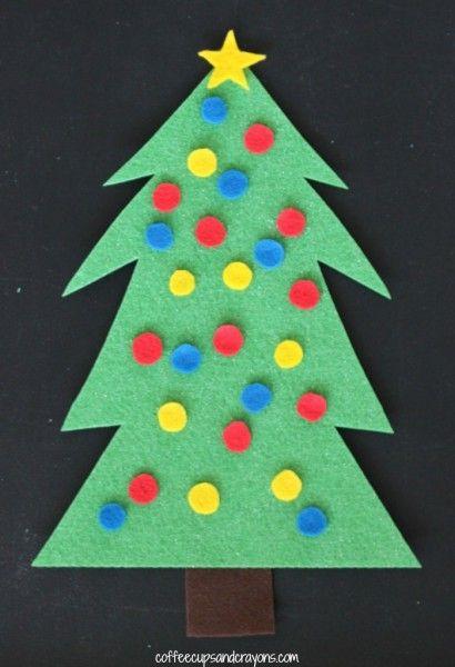 Christmas Tree Decorating Felt Busy Bag Christmas Pinterest