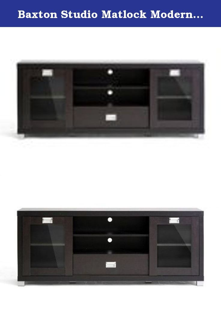 Baxton Studio Matlock Modern Tv Stand With Glass Television