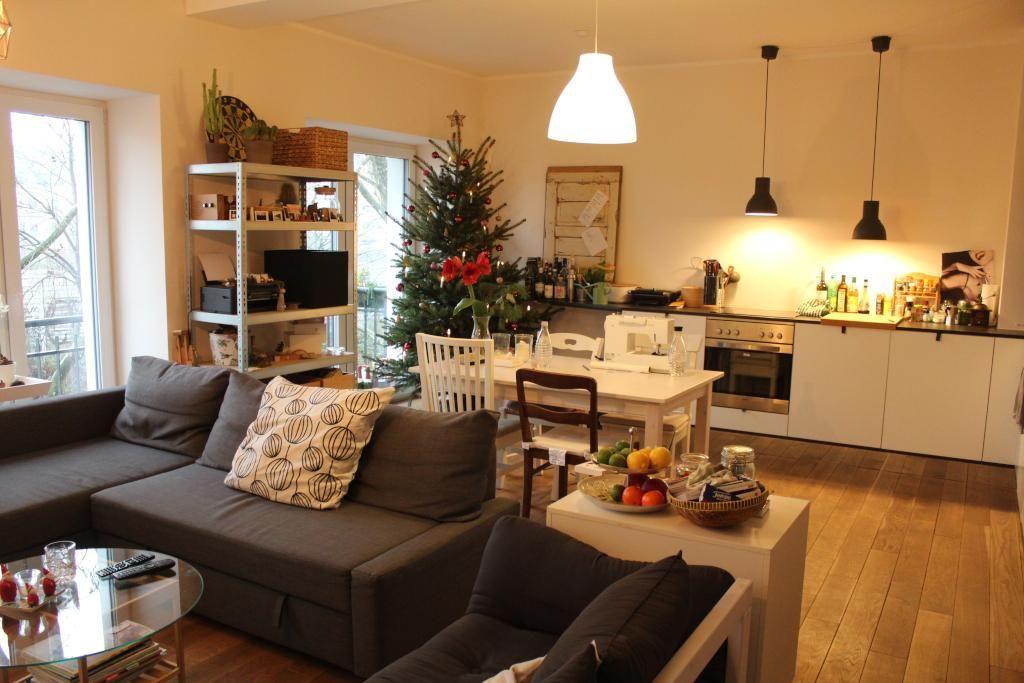Wohnideen Ess Und Wohnzimmer ess wohnzimmer mit weihnachtsdeko und weihnachtsbaum winter