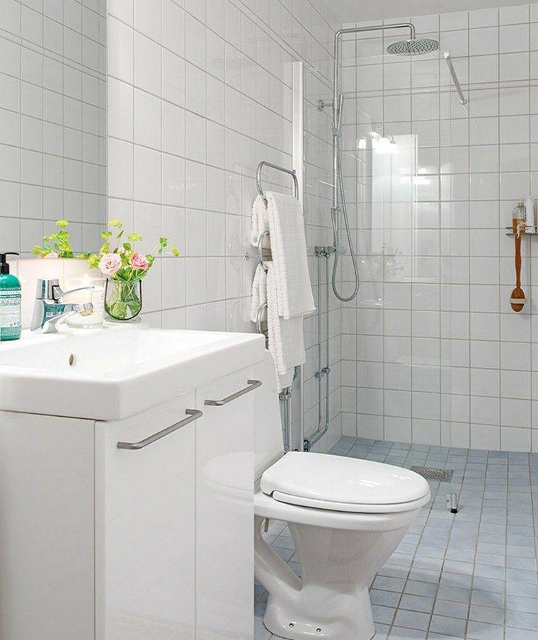douche italienne avec barre pour petite salle de bain