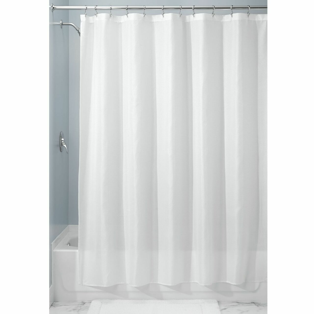 X Wide Waffle Weave Fabric Shower Curtain 108 X 72 White Fabric Shower Curtains Hotel Shower Curtain Shower Curtain 108 x 72 shower curtains