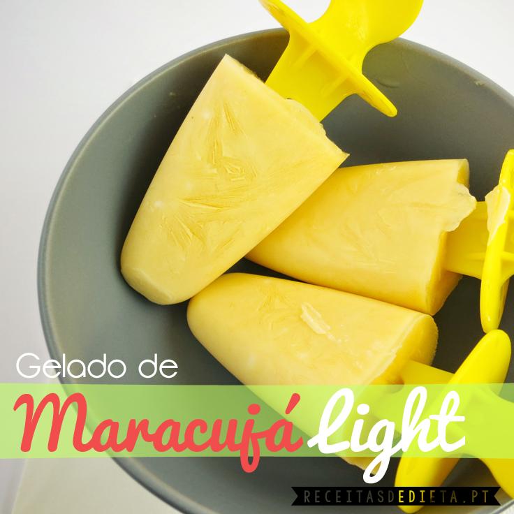 Gelado de Maracujá Light (50 calorias) #receita #dieta #emagrecer #regime