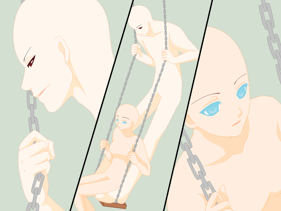 Swing Couple Base By Miitu Chan On Deviantart Drawing Base Anime Drawings Drawing Examples