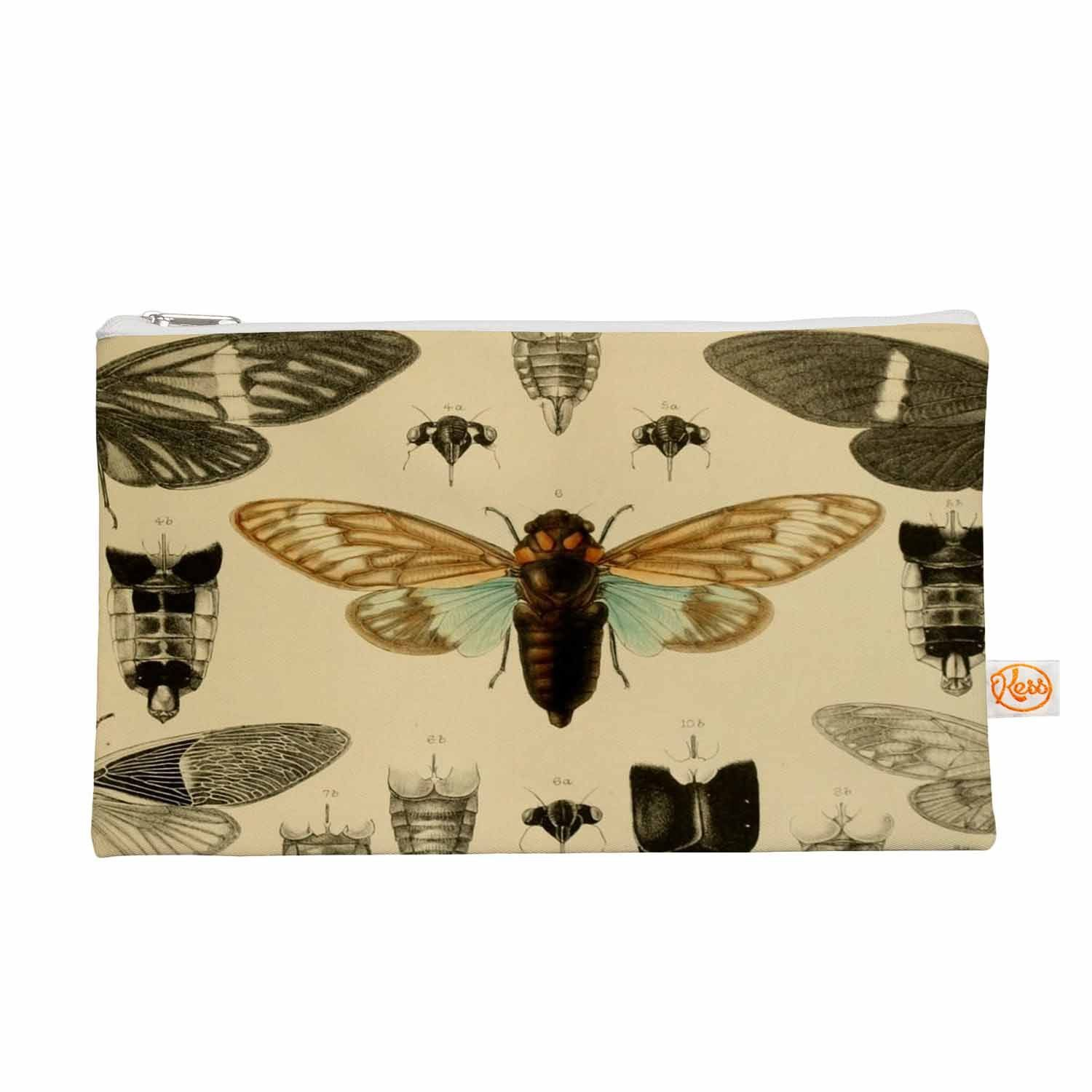 """Suzanne Carter """"Vintage Cicada"""" Bugs Pattern Everything Bag"""