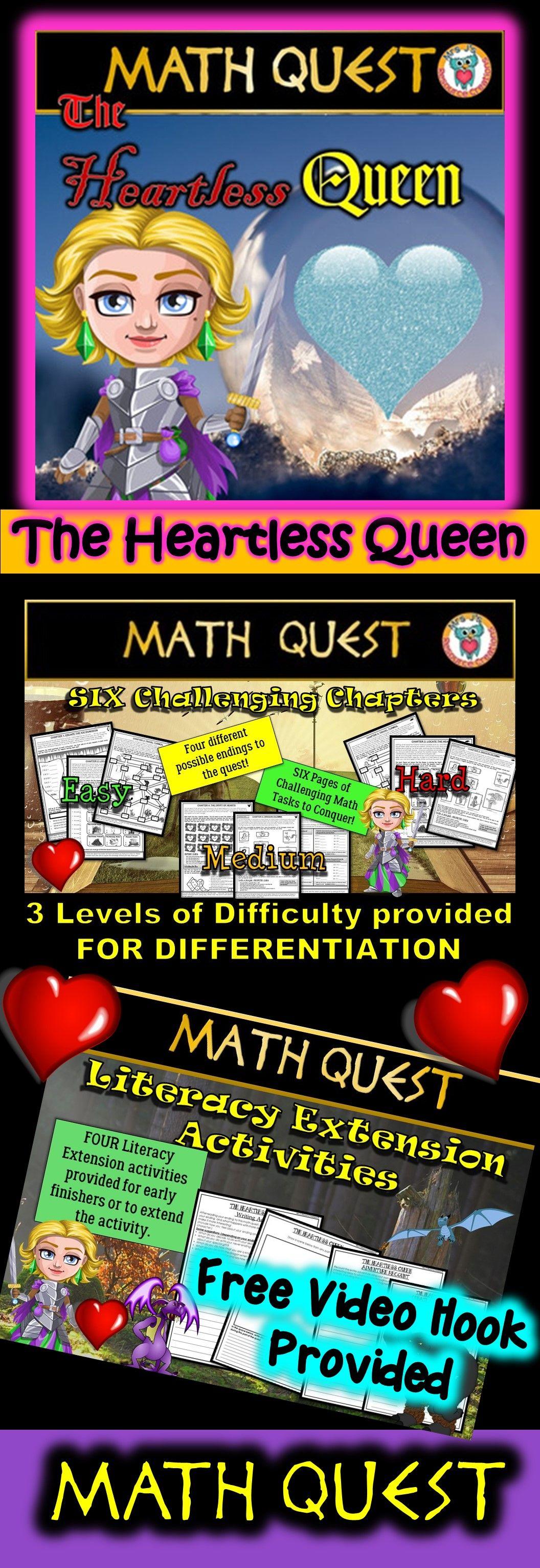 Valentine S Day Math Quest Activity
