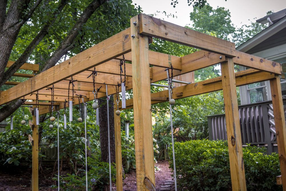 Image result for play structure ninja course | Backyard ...