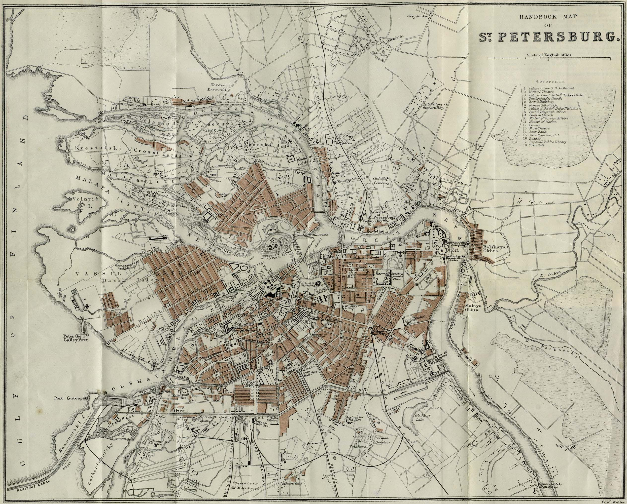 St Petersburg Russia Map Vintage Maps All World Map