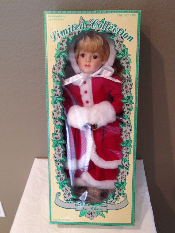 Christmas Porcelain Le Cheri HOLLY Doll by KMSCollectibles on Etsy