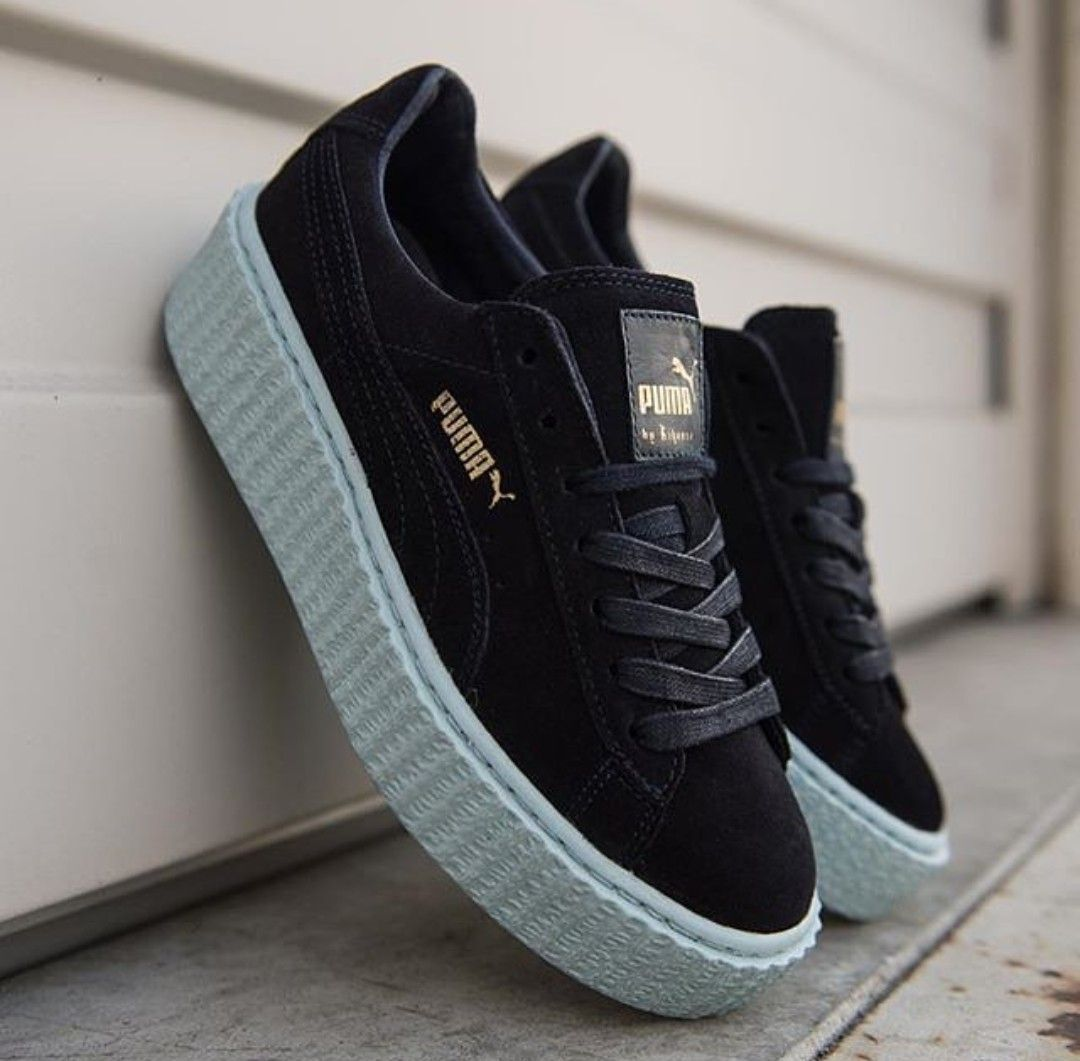 puma creepers rihanna baby blue shoes pinterest. Black Bedroom Furniture Sets. Home Design Ideas