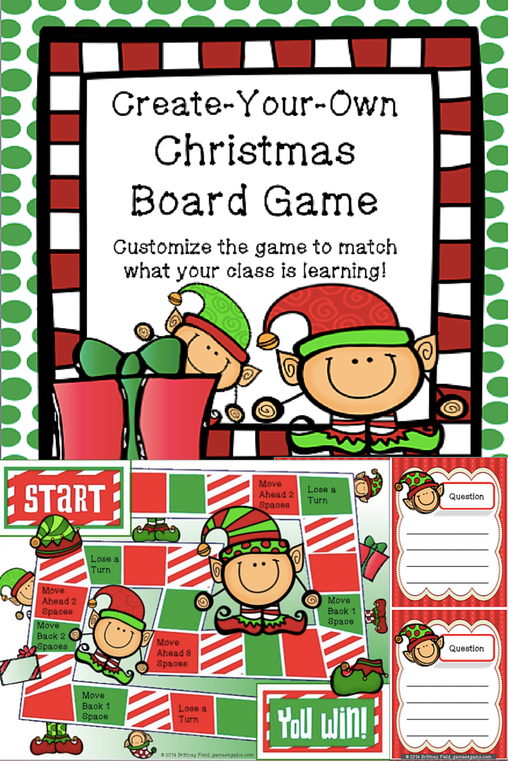 Christmas Game Customizable Christmas Activity Game