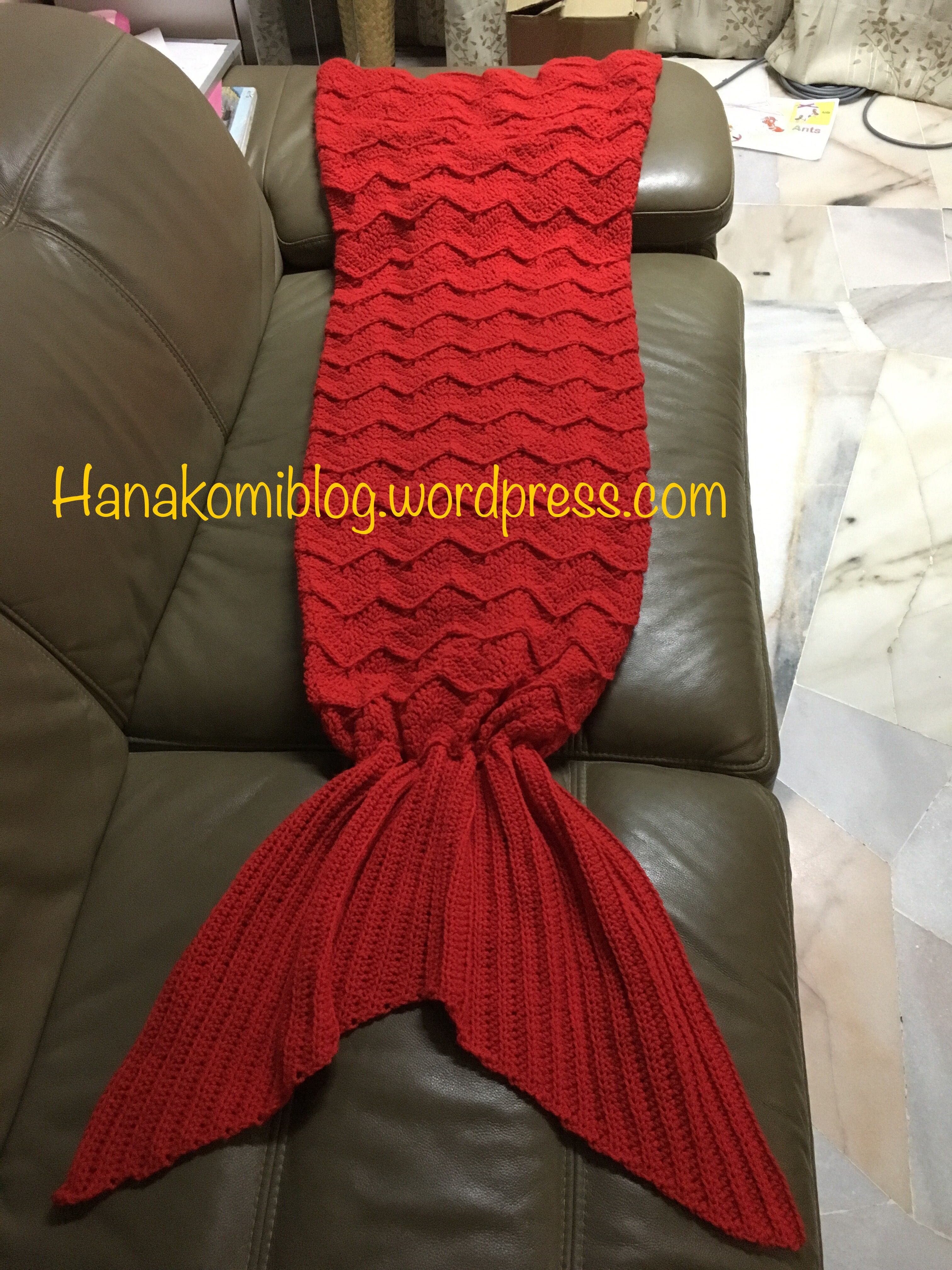 The Syira aka Chevron Mermaid Tail Blanket (Adult) — free crochet ...