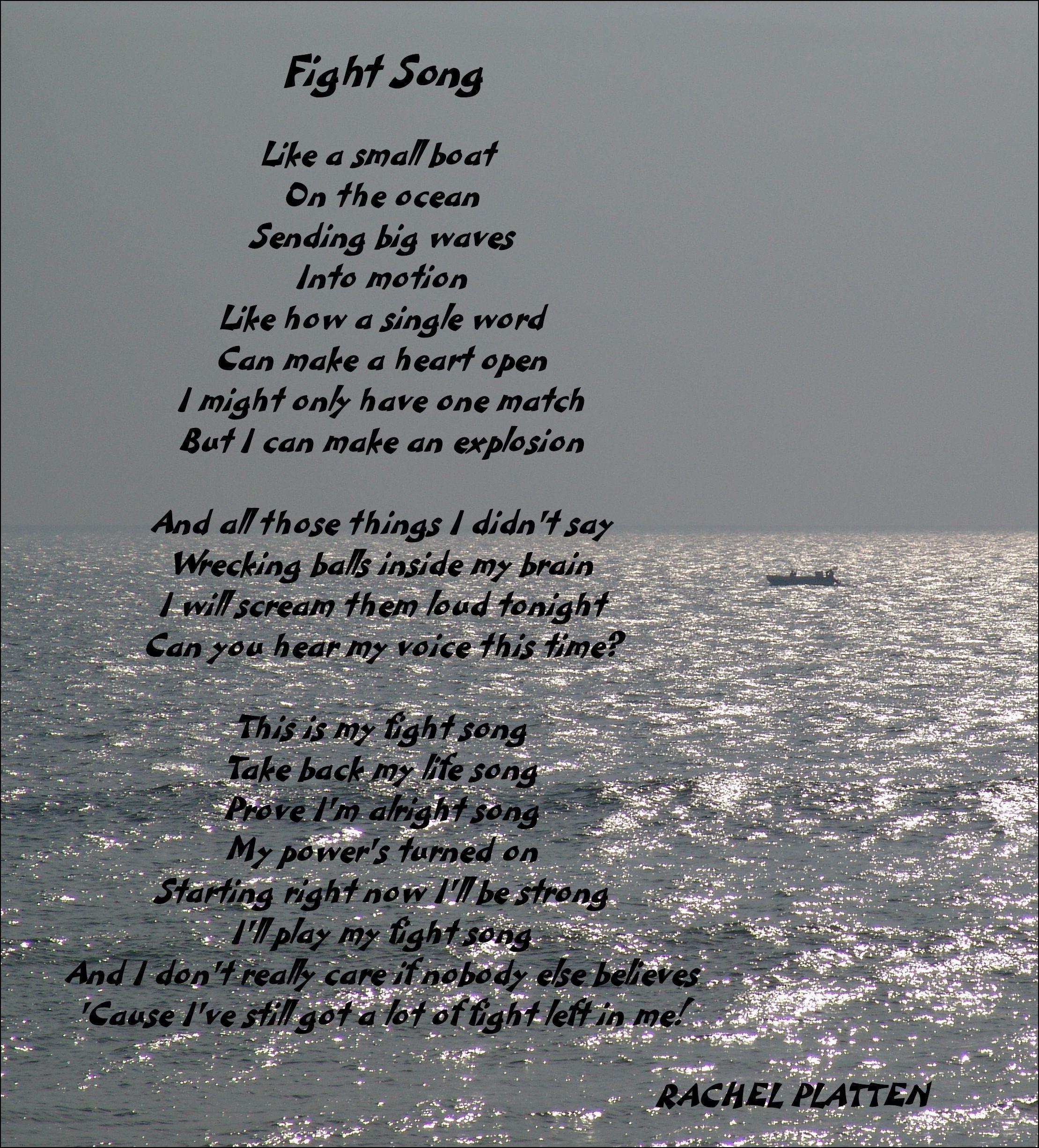 Lyrics: Rachel Platten - Fight Song