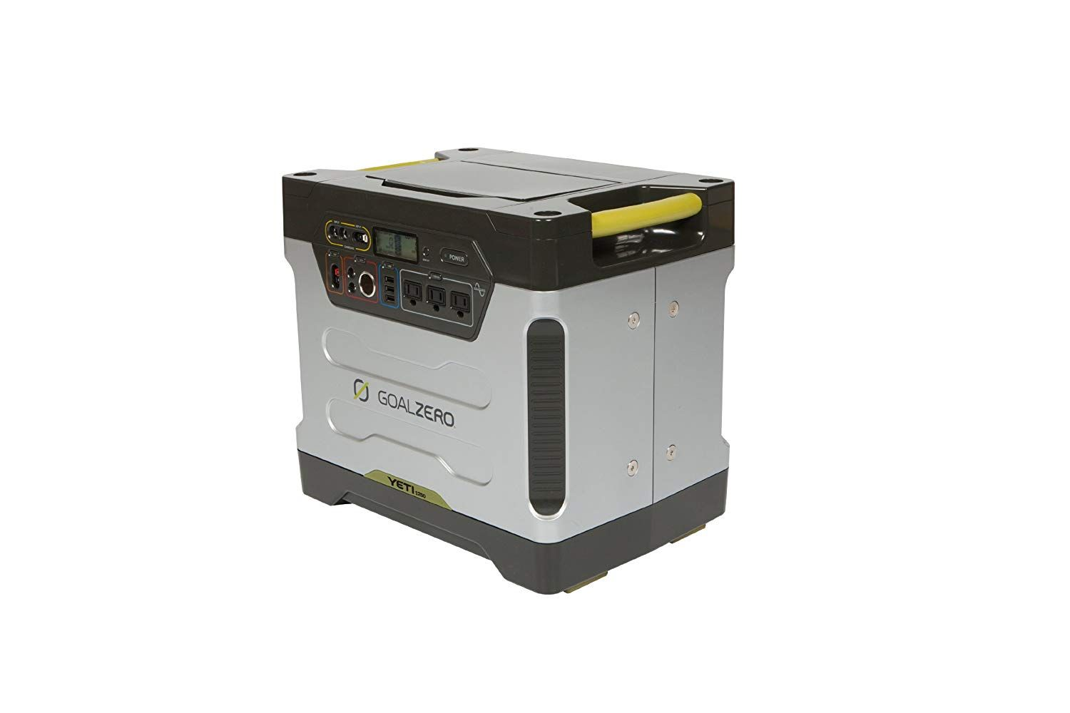Goal Zero Yeti 1250 Portable Power Station With Roll Cart 1200wh Chainable Home Battery Backup Genera Portable Solar Generator Solar Generator Generator House