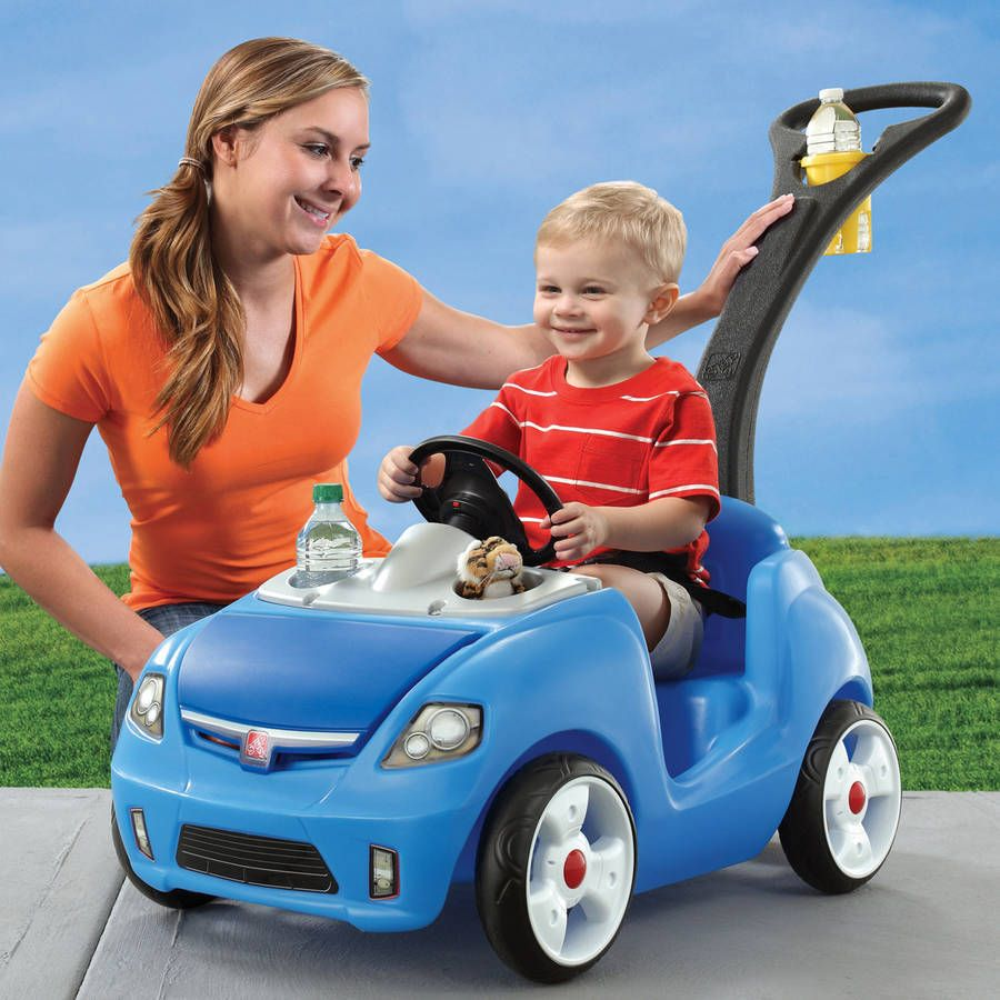 Kids Riding Toy Car Ride On Push Wagon Stroller Buggy Pull