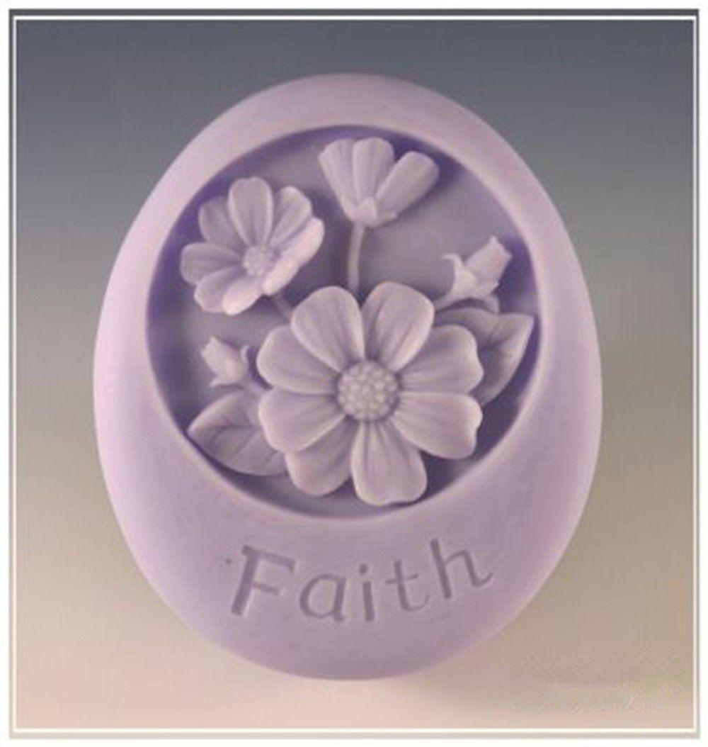 Flower faith s silicone soap mold craft molds diy handmade soap