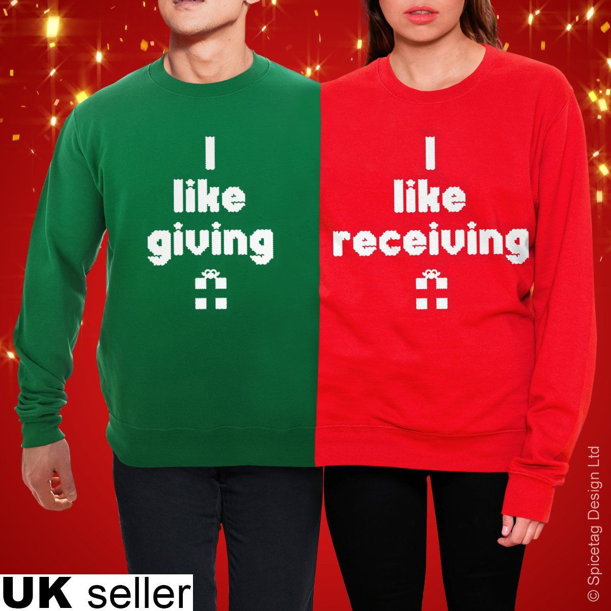 927d7690b4b Giving And Receiving Christmas Jumper Merry Xmas Double Twosie ...