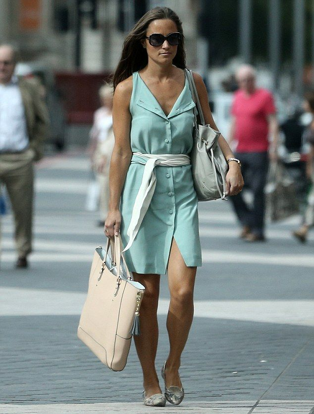Looking mint! Pippa is elegant in summery green dress - and it was a  cut-price bargain at just 140 too