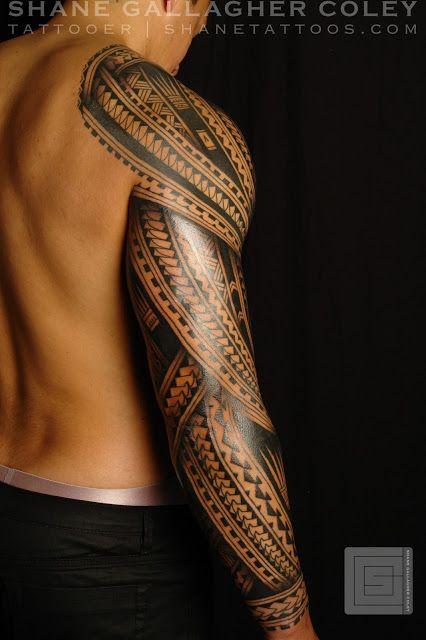Polynesian Sleeve Tattoo Tatau Polynesisches Tattoo Stammestattoo Designs Tatowierungen