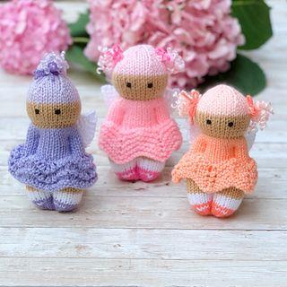 Fairy Friends pattern by Esther Braithwaite #knitteddollpatterns