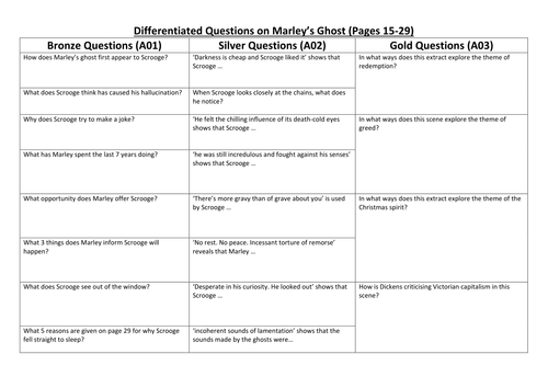 a christmas carol questions and answers stave 1