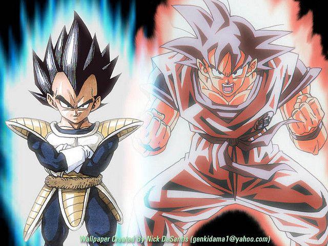 Dbz Wp 016 Vegeta Goku Flickr Photo Sharing Goku Dbz Dragon Ball Z