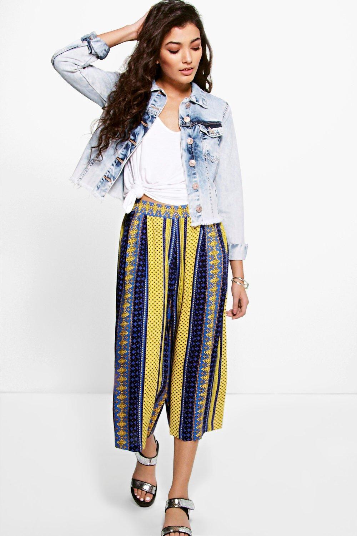 4316644f8c10 Una Moroccan Print Culotte Moroccan Print, Hippie Life, Wide Leg Trousers,  Skort,
