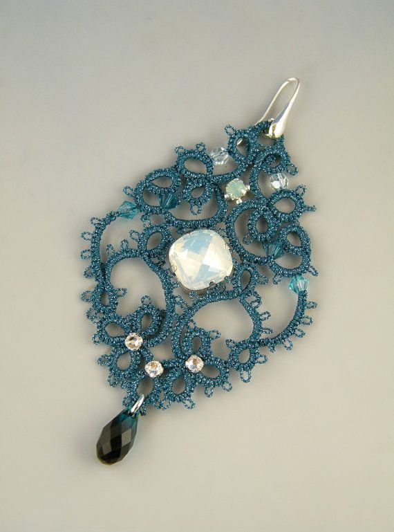 Sissi Needle Tatting Earrings Tutorial By Hyland87 On Etsy