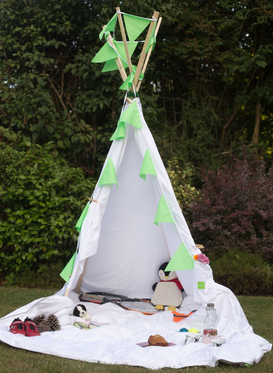 How to make a teepee in under 60 minutes! Teepee kids