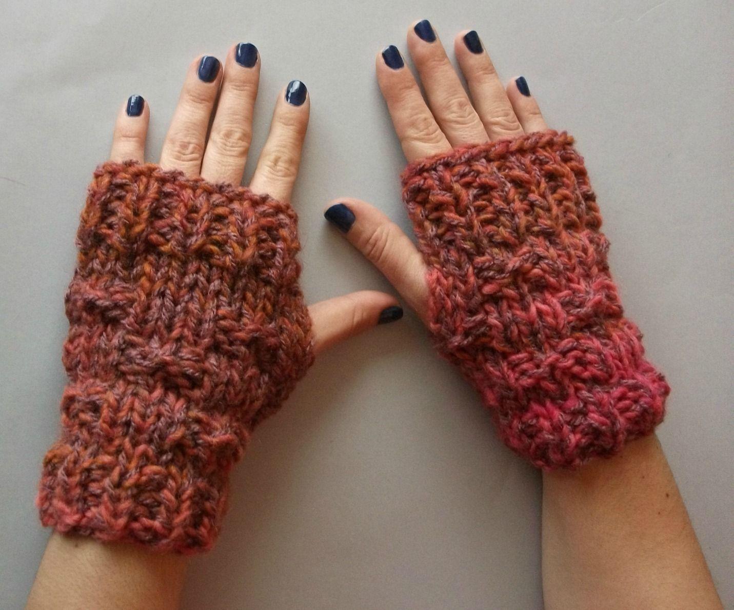 4c28d91f8709 Mitones de lana punto a dos agujas tutorial hazlo tu mismo diy ...
