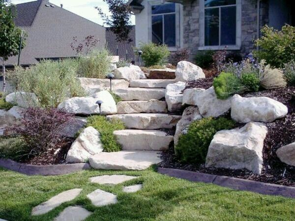 Garden House Pinterest Gardens, Yards and Stone steps