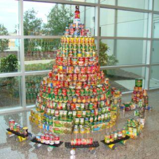 Can Goods Christmas Tree Donated To Local Food Bank Creative Christmas Trees Holiday Tree Homemade Christmas