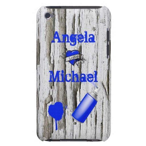 personalized graffiti wood iphone case