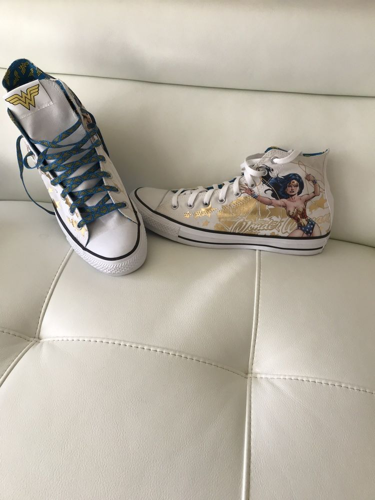 4ec4cc025b36 Converse all star DC Wonder Woman MIB. Men 12. Women size 14. Gold ...