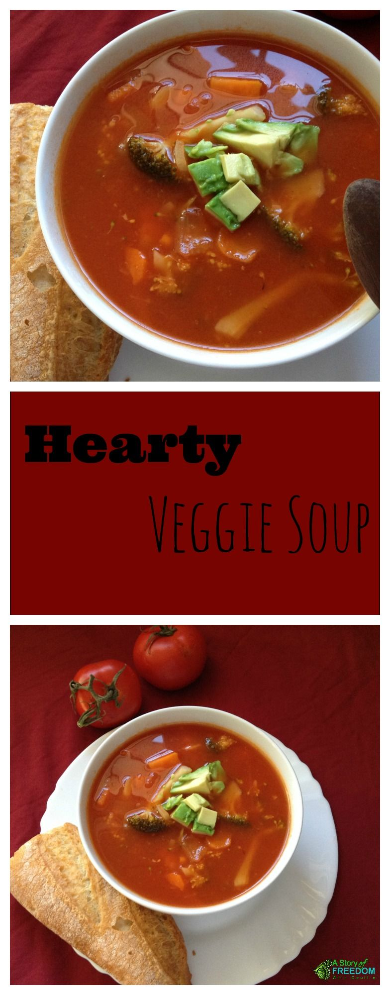 Hearty easy healthy veggie soup perfect for a cold