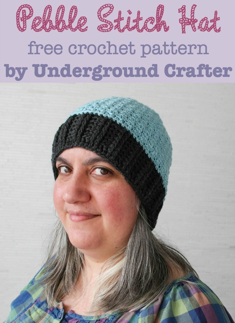 Pebble Stitch Hat, free #crochet pattern by Underground Crafter in ...
