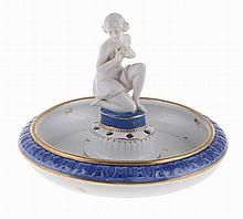 German porcelain center table sculpture and bowl.
