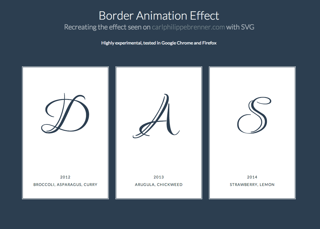 Border animation effect recreating the effect seen on border animation effect recreating the effect seen on carlphilippebrenner with svg baditri Images