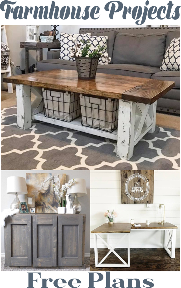 diy home furniture projects. 3 easy farmhouse diy projects table console home dcor free plans diy furniture e