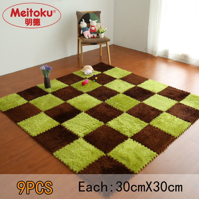 Meitoku Soft Eva Foam Puzzle Baby Play Villus Matinterlock Floor