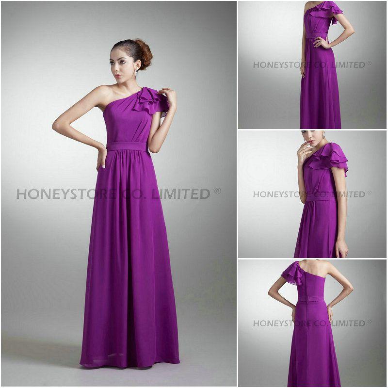 Aliexpress.com : Buy Free Shipping Custom Made Floor Length Purple ...