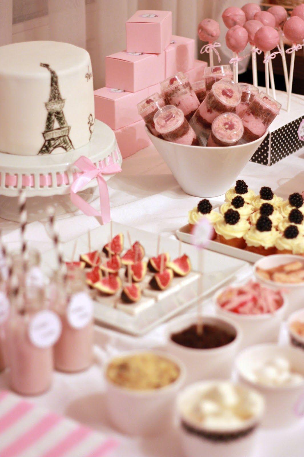 pink parisian buffet diy room decor party paris party party themes rh pinterest com