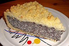 Mohnkuchen mit quark und streusel