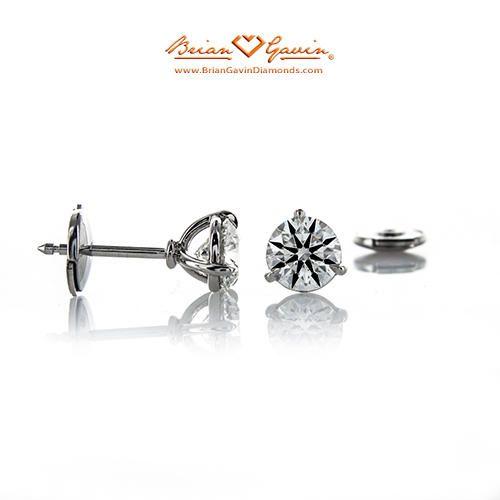 39dcd8e20 Platinum Handmade Martini Diamond Stud Earrings - Black Friday Sale ...